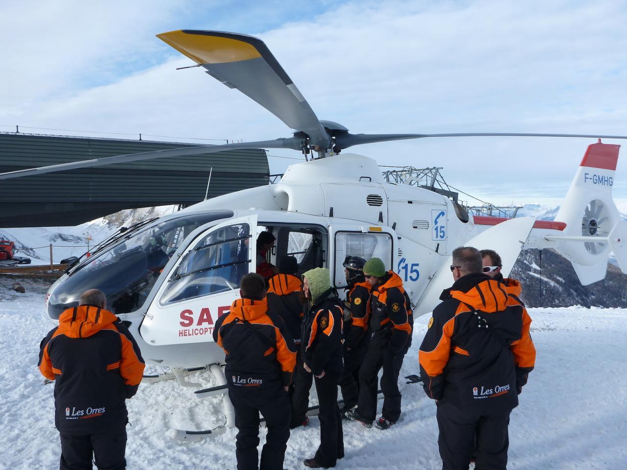 Hélicoptère SAF aux Orres 07