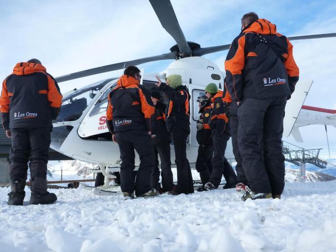 Hélicoptère SAF aux Orres 09