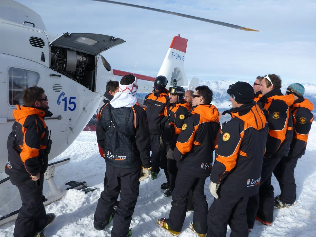 Hélicoptère SAF aux Orres 11
