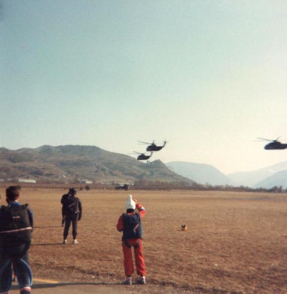 Stage de parachutisme en 1987