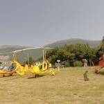 Autogyre sur l'aérodrome d'Aspres