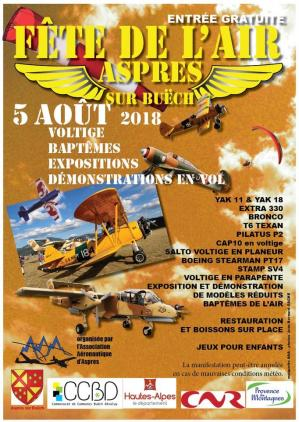 Fête de l'Air 2018 Aspres sur Buëch
