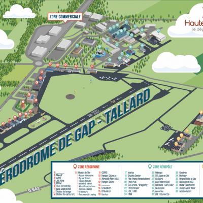 Plan aérodrome Gap-Tallard
