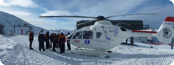 Hélicoptère du SAF aux Orres
