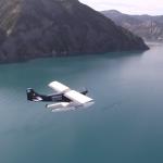 ULM multiaxes au dessus du lac de Serres-Ponçon (cliquer pour agrandir)